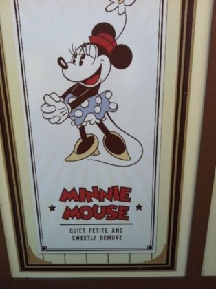 Minnie is quiet, petite, and sweetly demure. I possess two of these qualities.