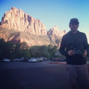 Matt, with winning trophy, at Zion Visitor Centre.